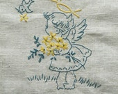HUGE SALE Baby Angels vintage 1930s Days of the Week PDF Embroidery Pattern