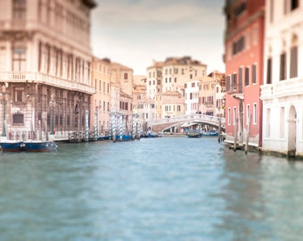 Venice Photography - Canal of Venice, Italy, Bridge over Canal, Home Decor, Travel Photo, Large Wall Art