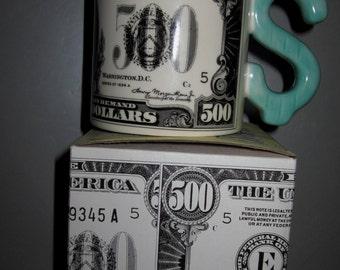 Sale 50% ~ 500 Dollar Bill Mug -  Item 4105