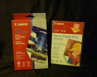 Canon 120 Sheet Pack Matte 4 x6 Photo Paper - New in Unopened Pkg + Bonus Sample Pack Glossy - FREE US Shipping