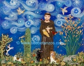 St Francis of Assisi & Friends 8x10 Print