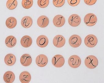Monogram SET Daniela Alphabet Letter Metal Stamps 8-9mm Metal Design Stamp Jewelry Stamping Tool