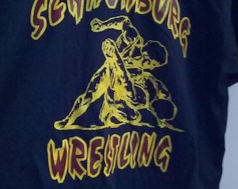 Schaumburg wrestling shirt tshirt grunge jock l xl tank wrestle