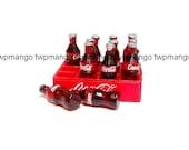 Dollhouse Miniature Coca Cola Bottles Coke plus Crate N145