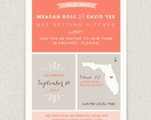Wander - Modern destination wedding invitation with map