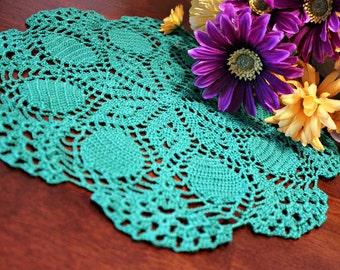 Crochet Green Doily
