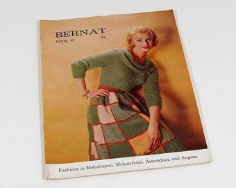 Vintage Knitting Pattern Book, Bernat, 1960