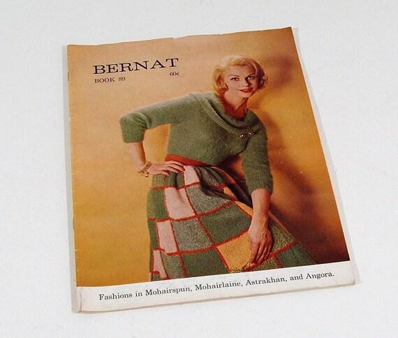 Vintage Knitting Pattern Book Bernat 1960