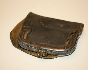 Antique Leather Change Purse