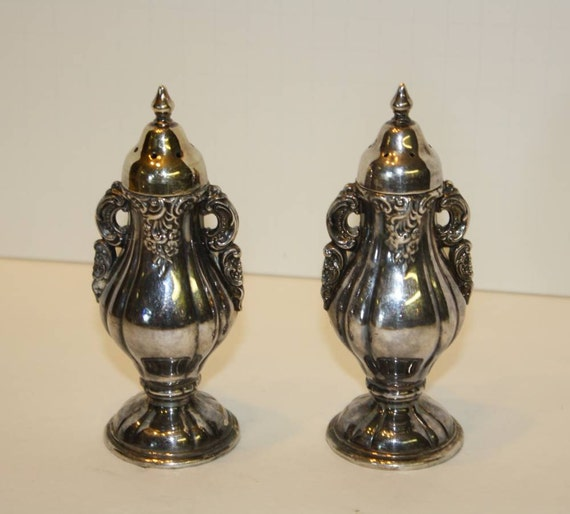 Items Similar To Wallace Silverplate Baroque Salt And