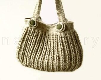 Crochet Handbag, Tutorial Handbag, Crochet pattern, Flowers, Buttons Bag, Instant download, Lining Bag, Tutorial Crochet