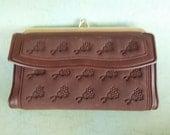 Vintage Brown Franstef  Clutch Wallet
