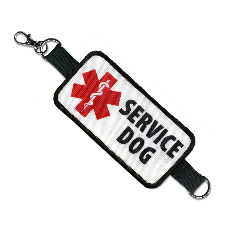 Medical Alert Service Dog Patch Blue