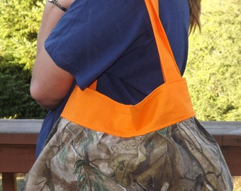 Camo and Blaze Orange Sunday  Purse