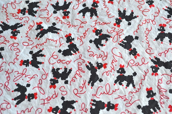 vintage poodle fabric with - photo #19