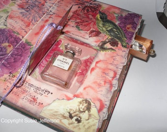 TUTORIAL - How to cut a niche or drawer in an altered book or journal, with step by step photos and instructions