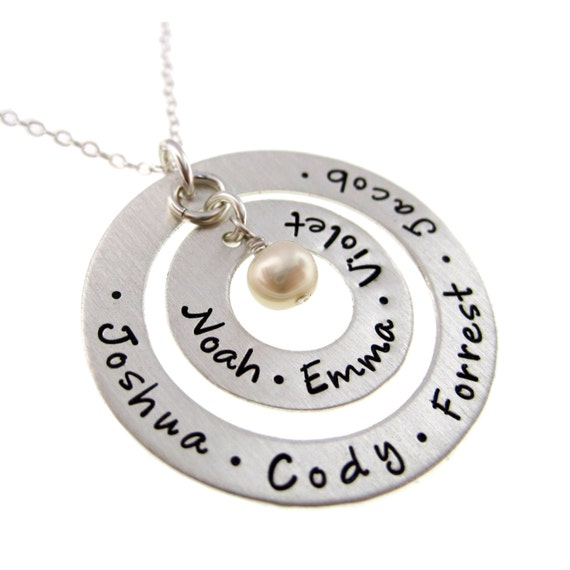 Hand stamped jewelry personalized sterling by byhannahdesign for How to make hand stamped jewelry