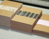 """Sample Pack Business Card Blanks ... 30 Cards Chipboard Seller Supplies 2"""" x 3.5"""" Lightweight Medium Weight Heavyweight Kraft Brown Cards"""