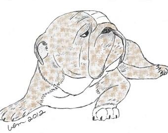 Brindle Bulldog Notecards