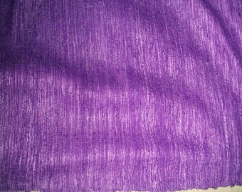 Vintage Raw Silk - Amethyst & Lavender Purple Textured Weave - Sewing -Decorating
