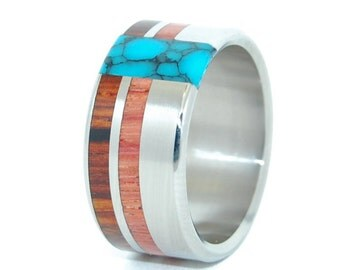 Wooden Wedding Rings, Unique Wedding Rings, Mens Ring, Womens Ring, Eco-Friendly Rings - UNFOLDING BEAUTY