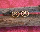 18k Gold Earring - Handamade Stud Earrings