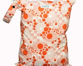 LARGE Wet Bag with Snap Open Handle - Orange Fizz - FAST SHIPPING