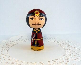 Vlad the Impaler  Wooden Handpainted Kokeshi Doll