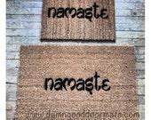 Namaste  doormat- clean house  zen namaste