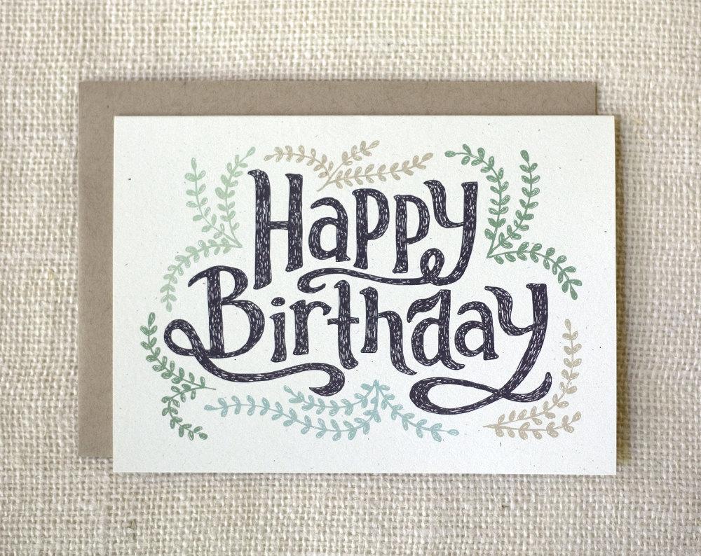 pretty birthday card  etsy, Birthday card