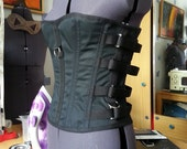 A Rugged, Overbust, Steel Boned, Buckle Fastened Corset, with Load Bearing D-Rings- The Industrial Corset