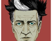 David Lynch Portrait LARGE Poster/Print