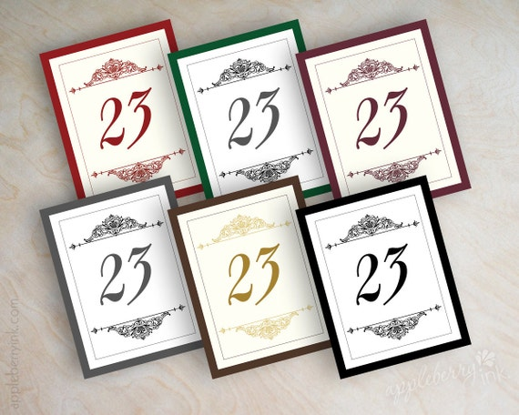 Wedding Table Number Table Number Cards Table By Appleberryink
