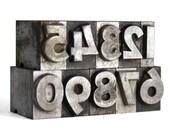 NUMBERS - 48pt Vintage Metal Letterpress (Bernhard Gothic Bold)