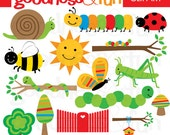 Buy 2, Get 1 FREE - Backyard Bugs Clipart - Digital Bug & Insect Clipart - Instant Download