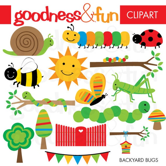 buy 2 get 1 free backyard bugs clipart digital bug insect
