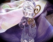 Vintage Crystal Angel Figurine Czech Gorham Crystal Angel Figurine / Ornament