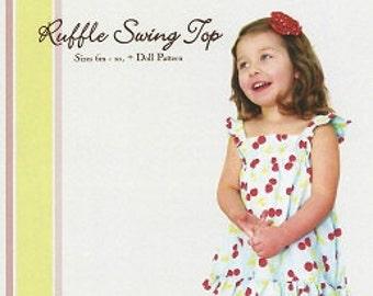 Ruffle Swng Top Pattern  Sizes 6M to 10 plus doll pattern Little Lizard King