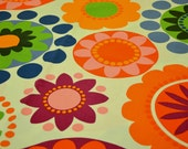 Car Seat Cooler Pad - Bright Multi Color Flowers - MADE TO ORDER