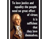 Maximilien ROBESPIERRE Quoted Art print
