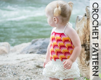 CROCHET PATTERN - Offshore Dress & Cami