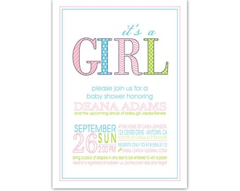 Baby Shower Invitation //you can change the colors// Deana design