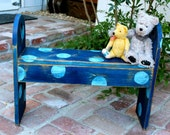 Childrens Furniture - Bench - Shabby Cottage - Distressed home decor french cottage