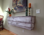 Floating Ledge - Large Wooden Shelf - Handcrafted - Shabby - Farmhouse Chic - Cottage Furniture - 66 Inches