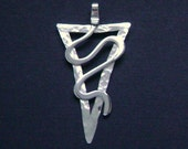 Sterling Silver Abstract Contemporary Pendant