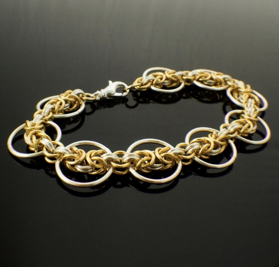 Byzantine Circles Bracelet  KIT - Chainmaille - Fun For All Skill Levels