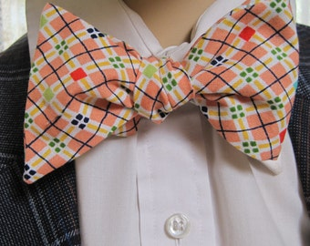 Fancy Argyle Bow Tie
