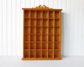 Vintage Wooden Curio Cubby Shelf Wall Hanging