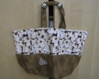 LARGE Garlic Tote Bag, Shopping Bag
