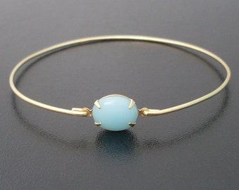 Light Turquoise Bangle Bracelet, Gala - Gold and Turquoise Bracelet, Bridal Jewelry, Wedding Jewelry, Turquoise Jewelry, Bridesmaid Jewelry